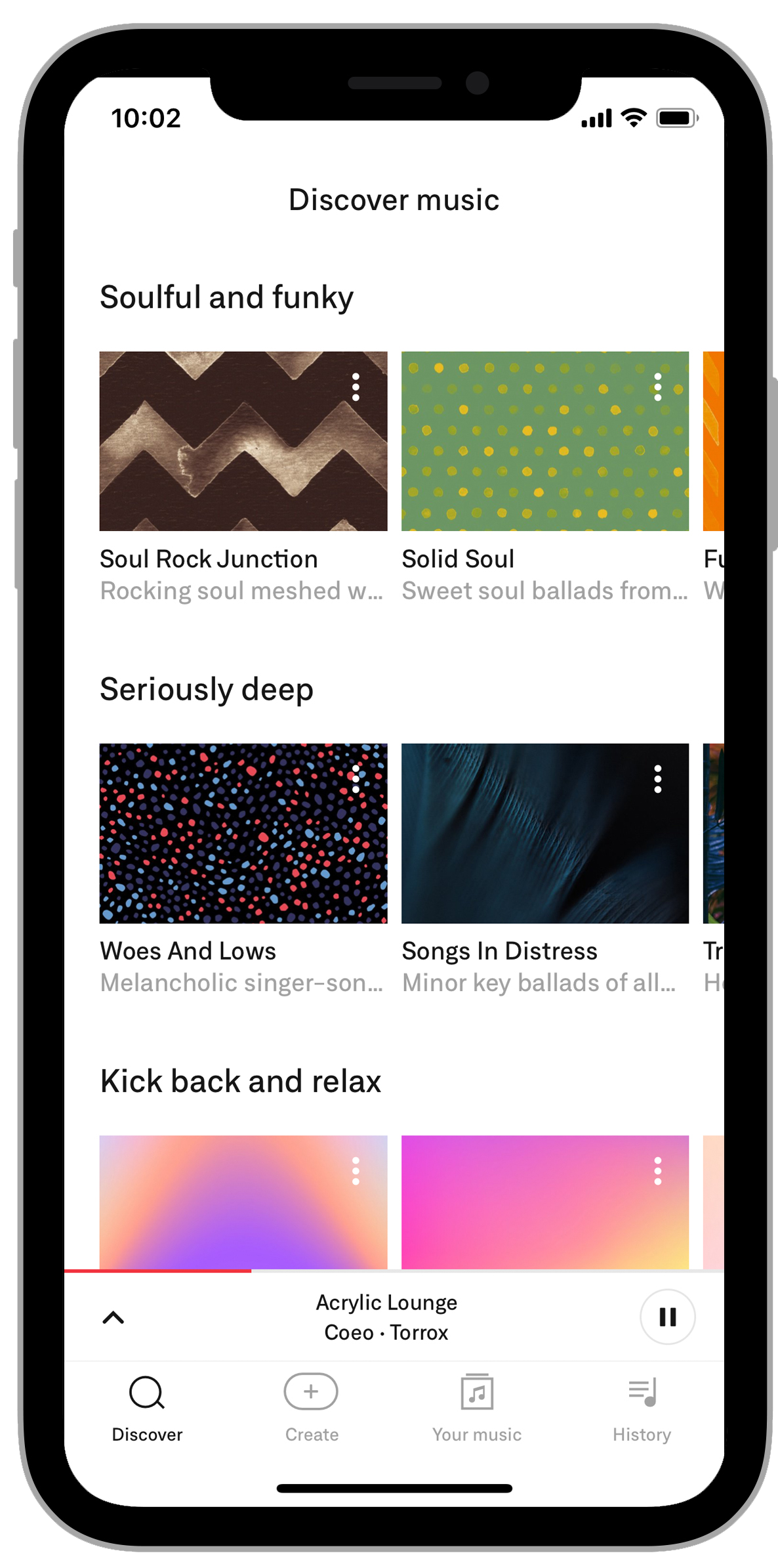 discover music 2 iphone x