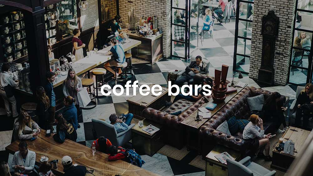 koffie bar achtergrond muziek
